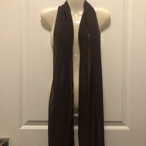 Brown Chiffon Shawl Wrap for Gowns & Dresses